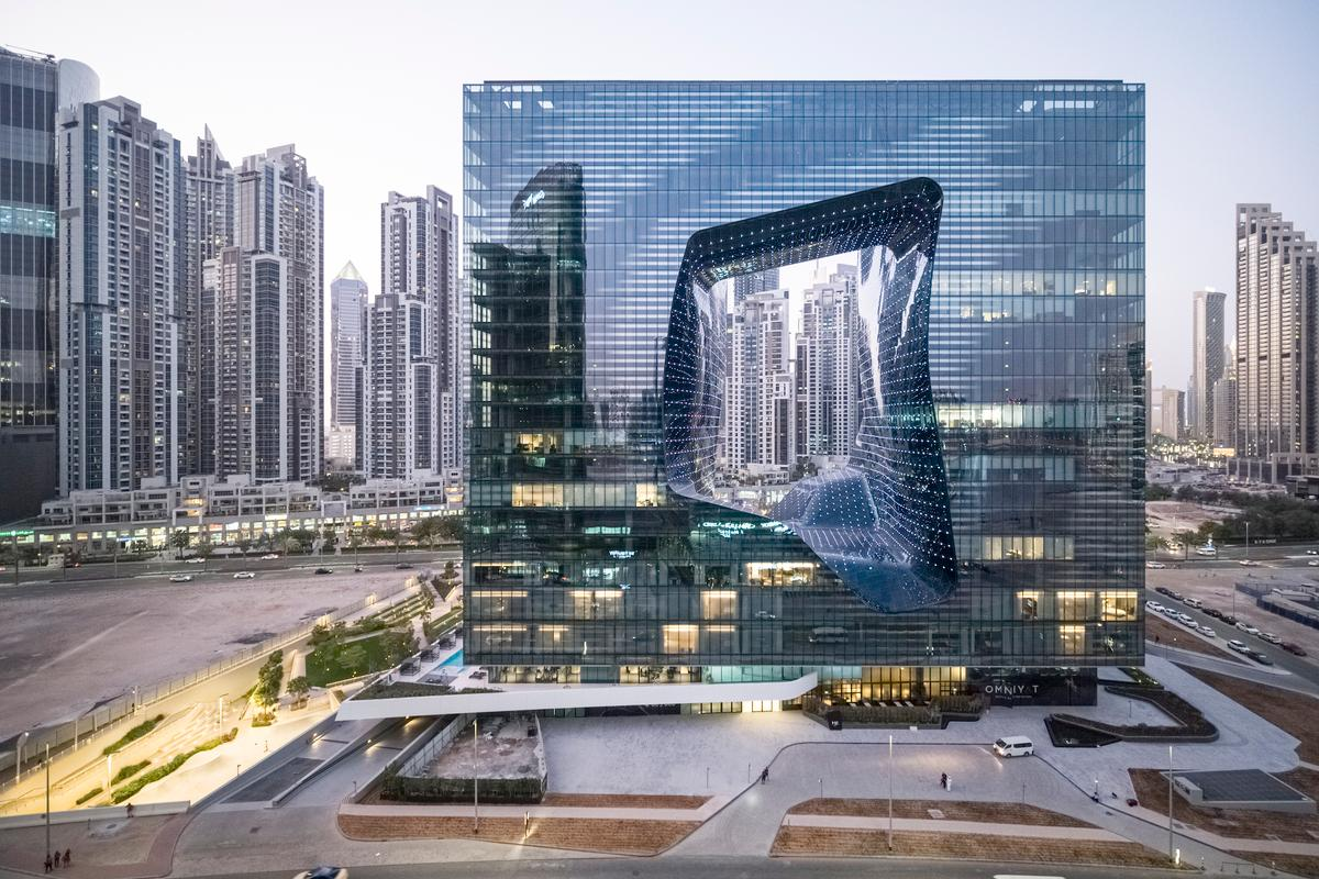 The ambitious Opus is one of Zaha Hadid Architects' most striking buildings to date and took 13 years to realize