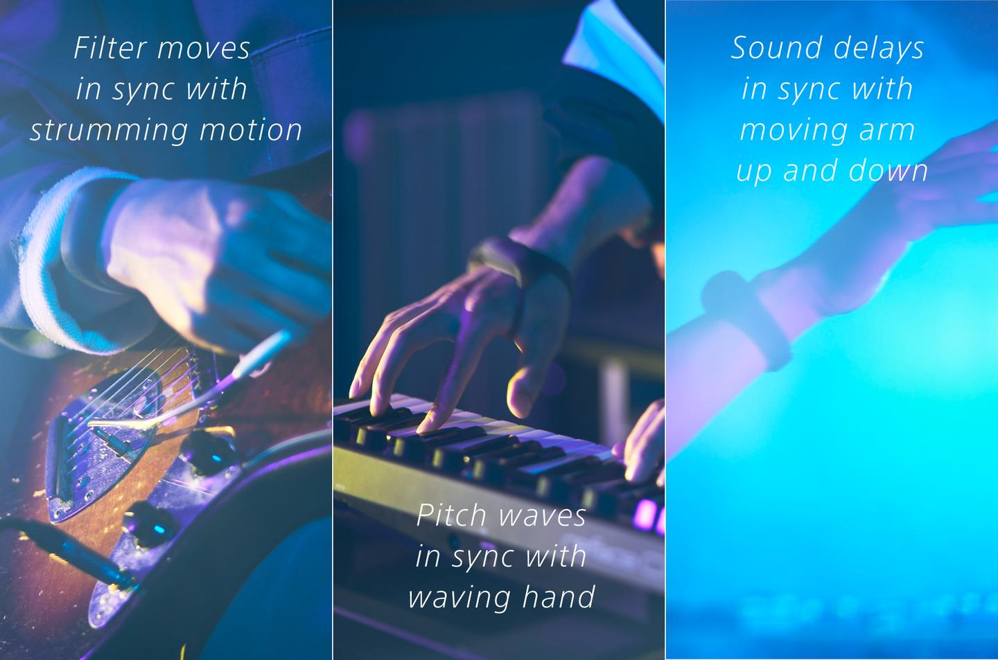 Gestures like waves, rolls and twists can be set to trigger different sound effects