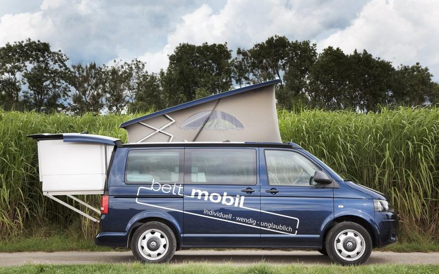 The Bett Mobil with available pop-up roof