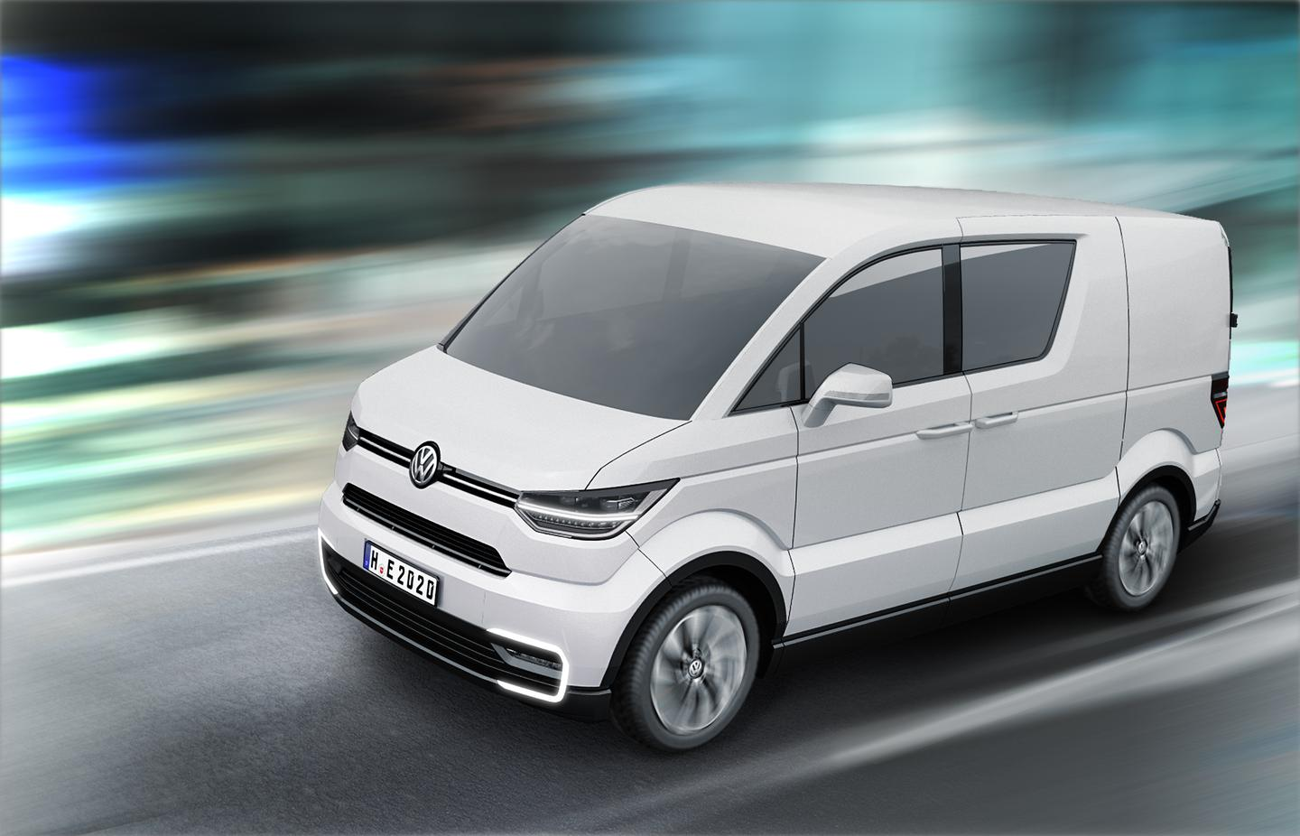 The e-Co-Motion concept from Volkswagen Commercial Vehicles is a zero-emission city delivery van