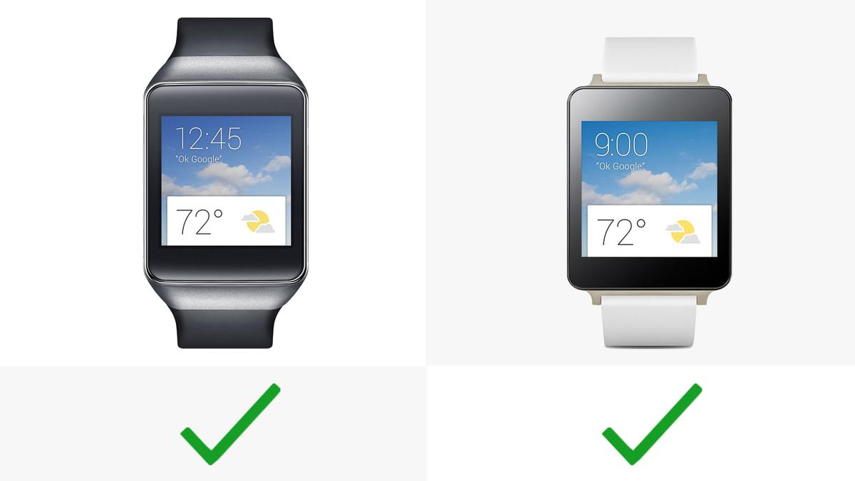 Both watches have always-on displays