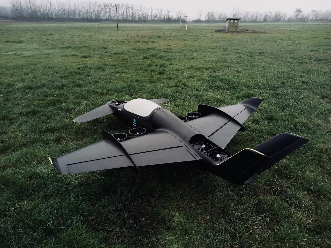 Manta's one-third scale prototype hybrid VTOL/STOL aircraft is nearly ready for flight tests