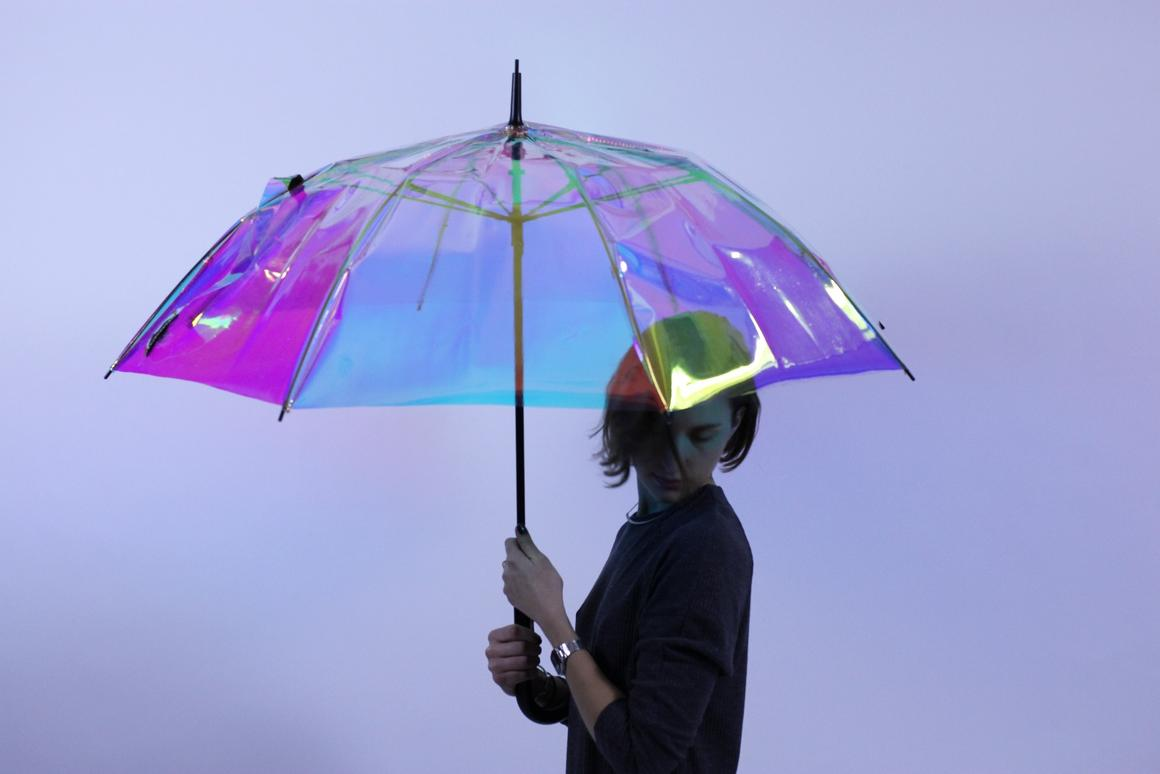 The oombrella is designed to predict a downpour and remind you to take it when heading out