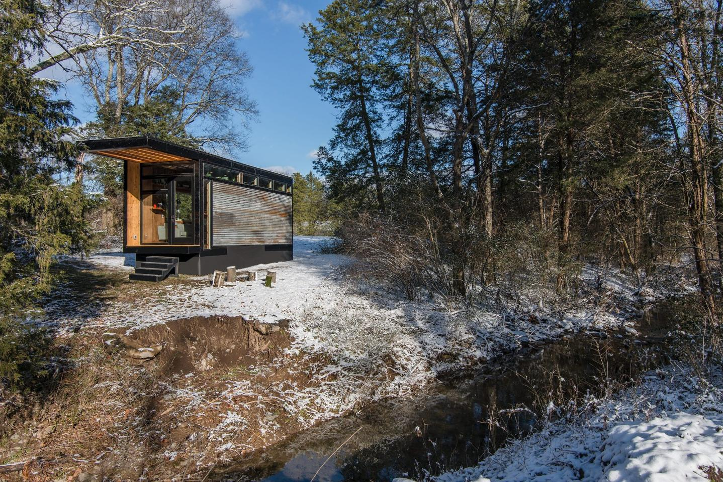 When children's author Cornelia Funke approached David Latimer to build her a new writing studio and guesthouse, it would require a little departure from his previous work as lead designer of Tennessee's New Frontier Tiny Homes