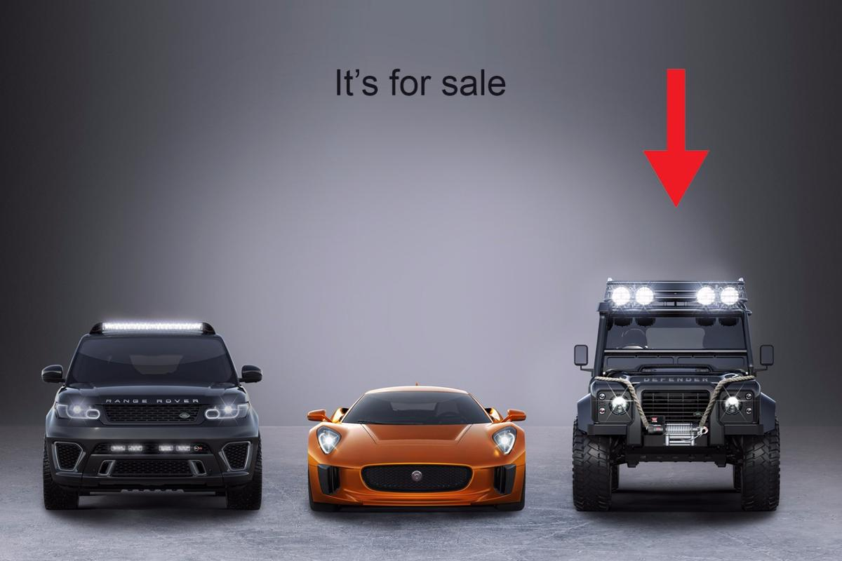 The SVX Defender was the product of a marketing partnership between Jaguar Land Rover, Albert R. Broccoli's EON Productions, Metro-Goldwyn-Mayer Studios, and Sony Pictures Entertainment. Jaguar Land Rover Special Operations built three bespoke hero cars for the movie, being the Range Rover Sport SVR,Jaguar C-X75 and Land Rover Defender SVX