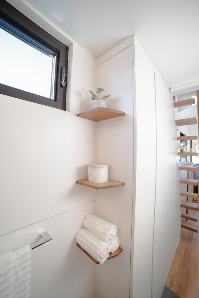 Every nook and cranny was used for storage space in the home