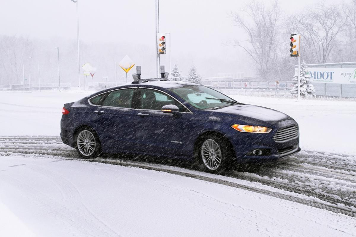 Ford says that an area that is covered in snow can be navigated by an autonomous car if the area has been driven and mapped by LiDAR previously