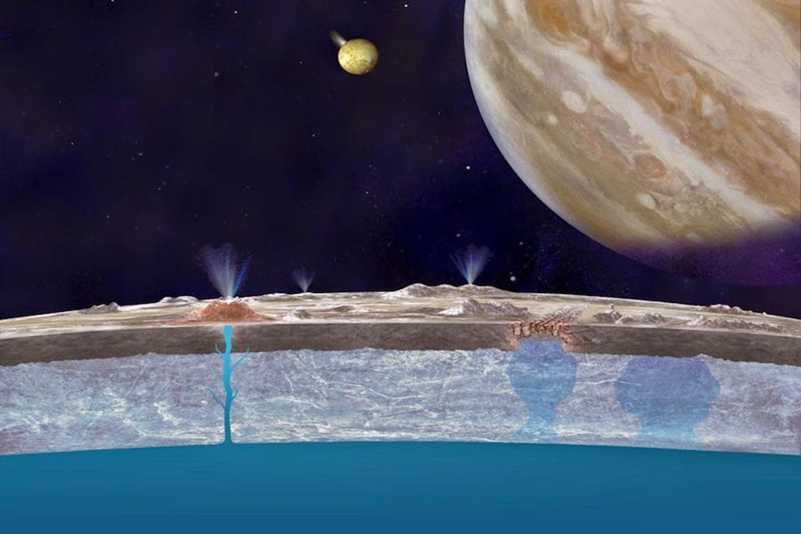 Old data has turned up new evidence of water plumes on Jupiter's moon, Europa