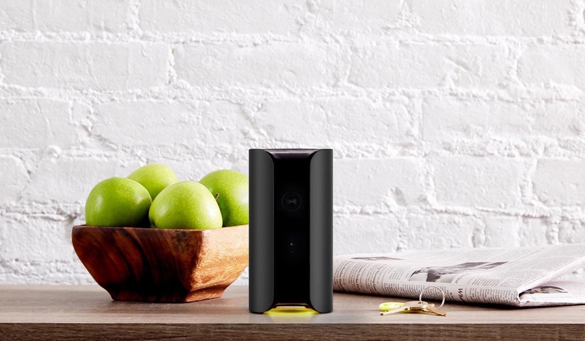 The Canary is a self-contained video camera and environmental monitor to keep watch on your home