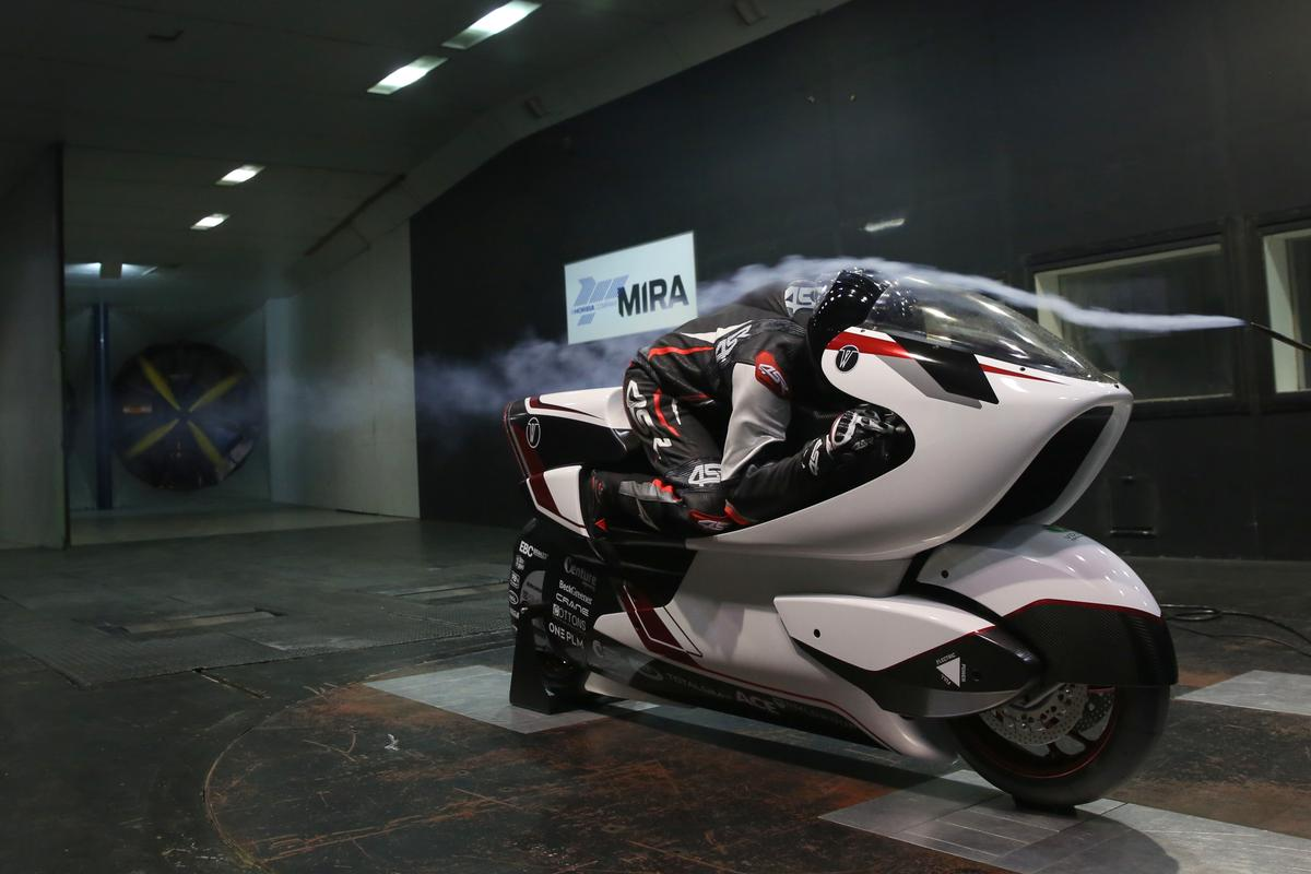 WMC is preparing to take on the world land speed record for electric motorcycles, armed with a motorcycle built around a giant hole