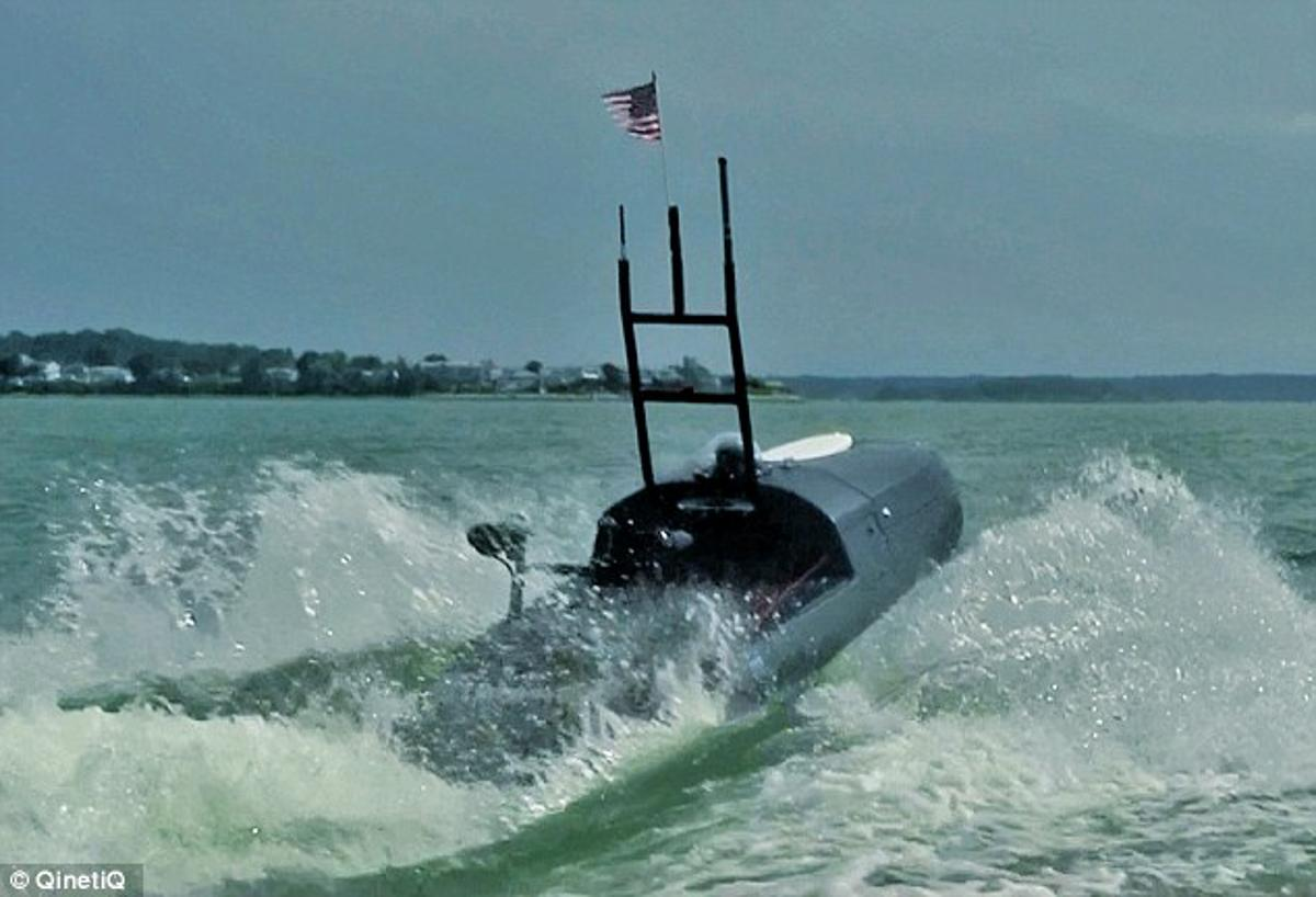 """""""Blackfish"""" is a remote controlled US military jet-ski, that can see under water (Image: QinetiQ North America)"""