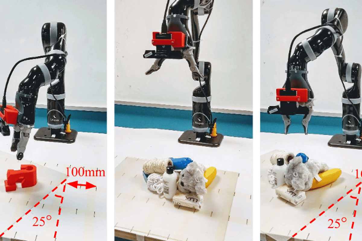 The system allows robots to grasp individual items from a cluttered and moving collection