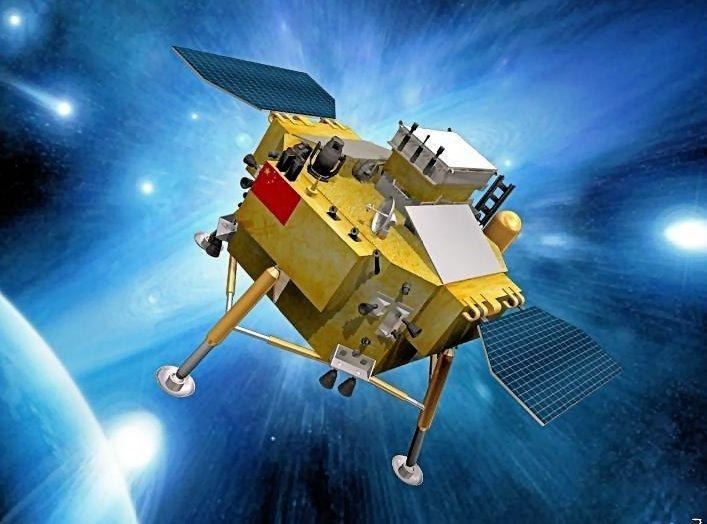 Chang'e-3 on the way to the Moon (Image: Xinhua News Agency)