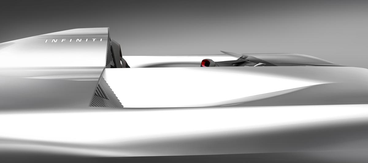 Infiniti's Prototype 10 concept car will get a full reveal at the 2018 Pebble Beach Concours d'Elegance next week