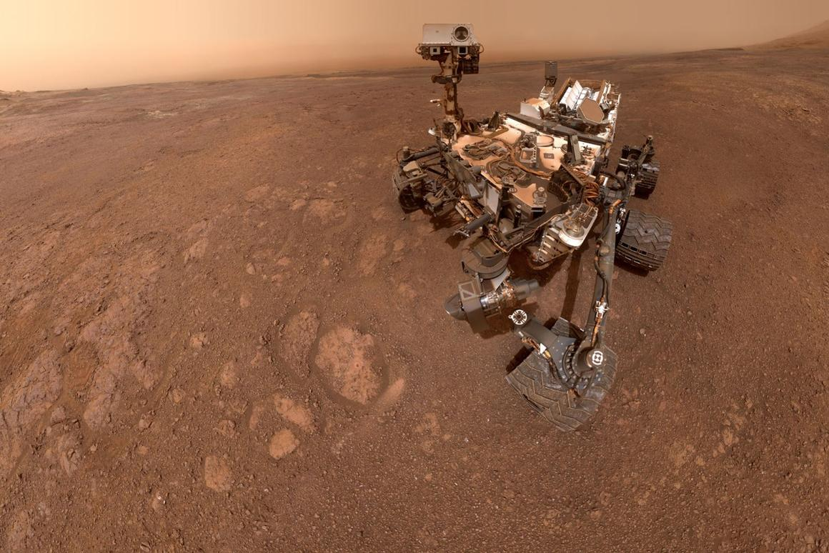 Curiosity at work on the Red Planet