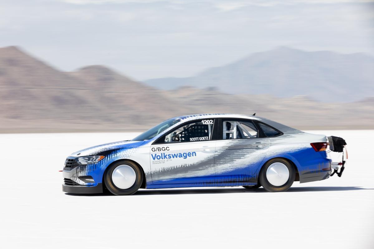 """It was a terrific experience to drive this car on the salt,"" said veteran racer Scott Goetz"