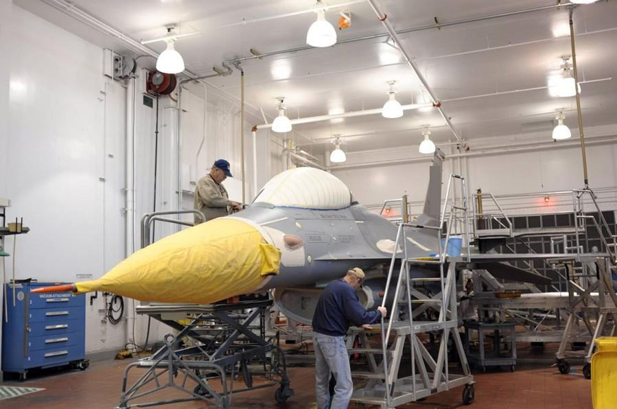 Preparing an aircraft for paint removal