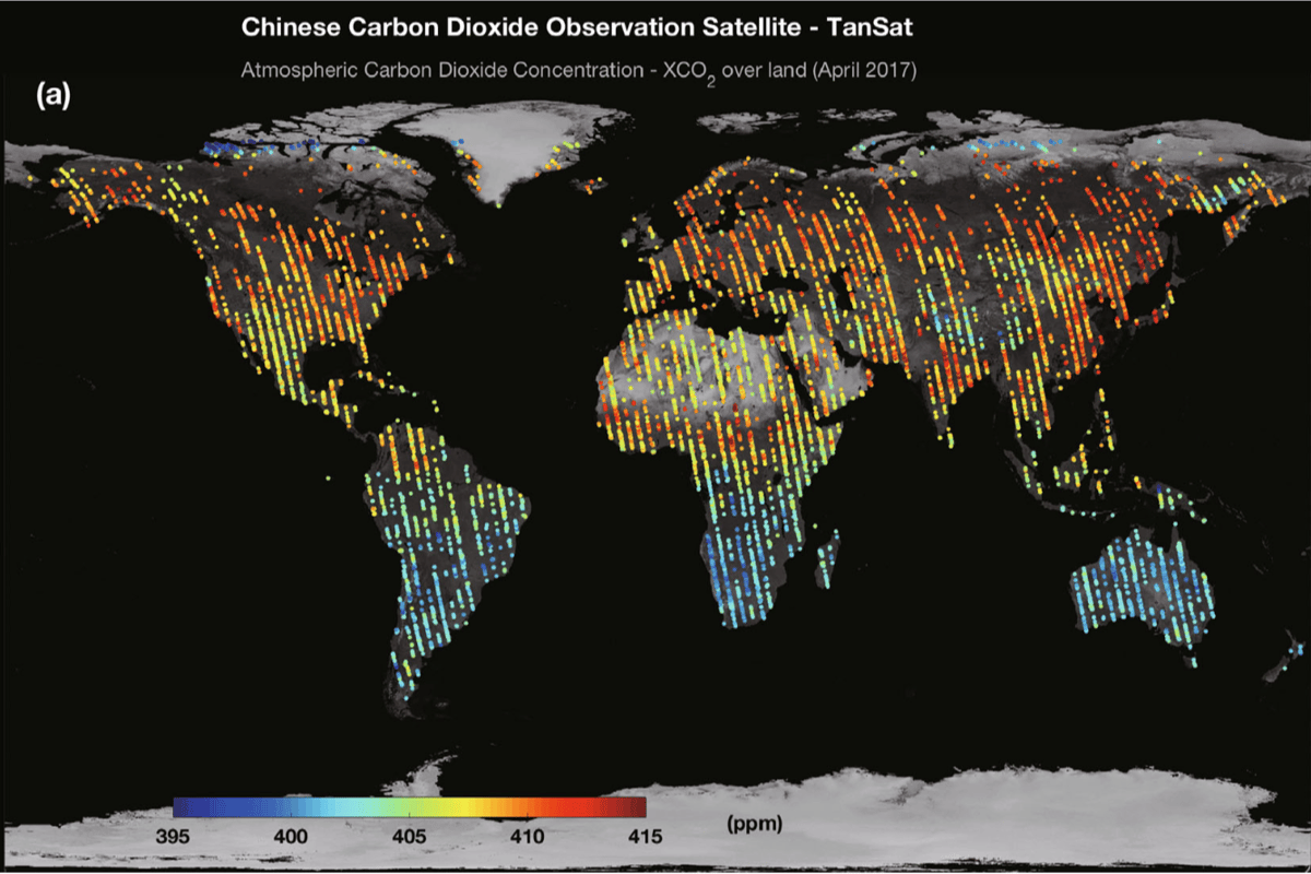 TanSat data has given birth to the first global map of atmospheric carbon dioxide