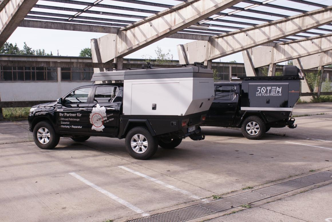 Fiftyten's three-piece truck back hauls cargo and camps in