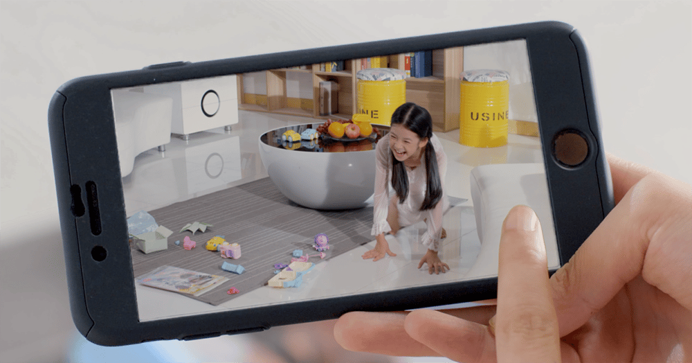 Setup of the Obsbot Tail camera is undertaken on a smartphone running a companion app