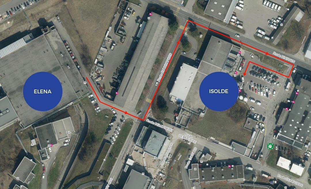 Перевезення здійснюватимуться на невеликі відстані в межах комплексу ЦЕРН.