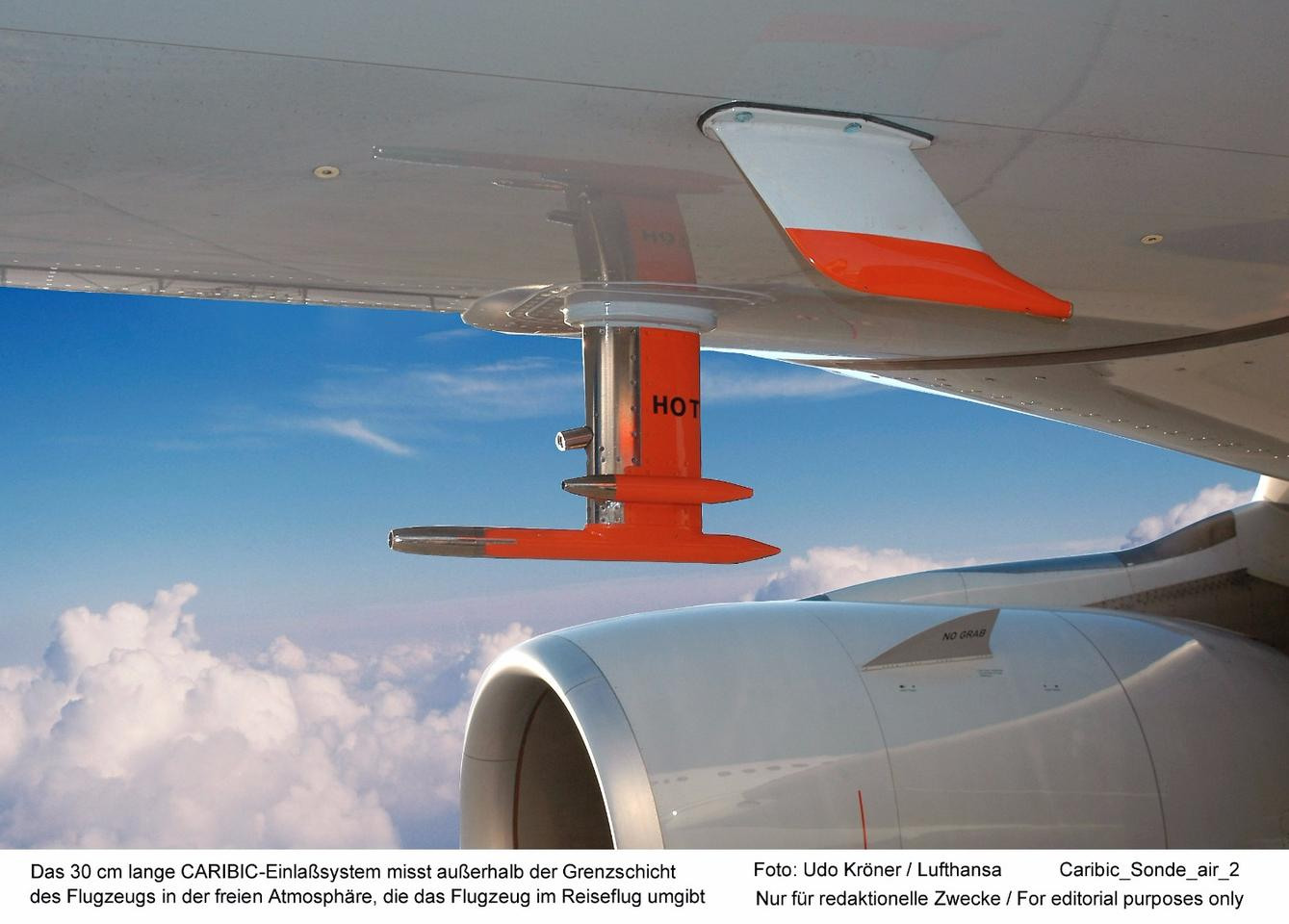 The IAGOS project has been measuring trace gases and aerosol particles in the tropopause region since 1997, by flying a modified Airbus A340-600's loaded with scientific instruments through the area