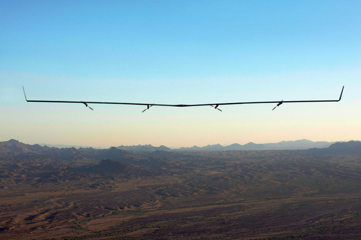 Facebook's Aquila drone in action