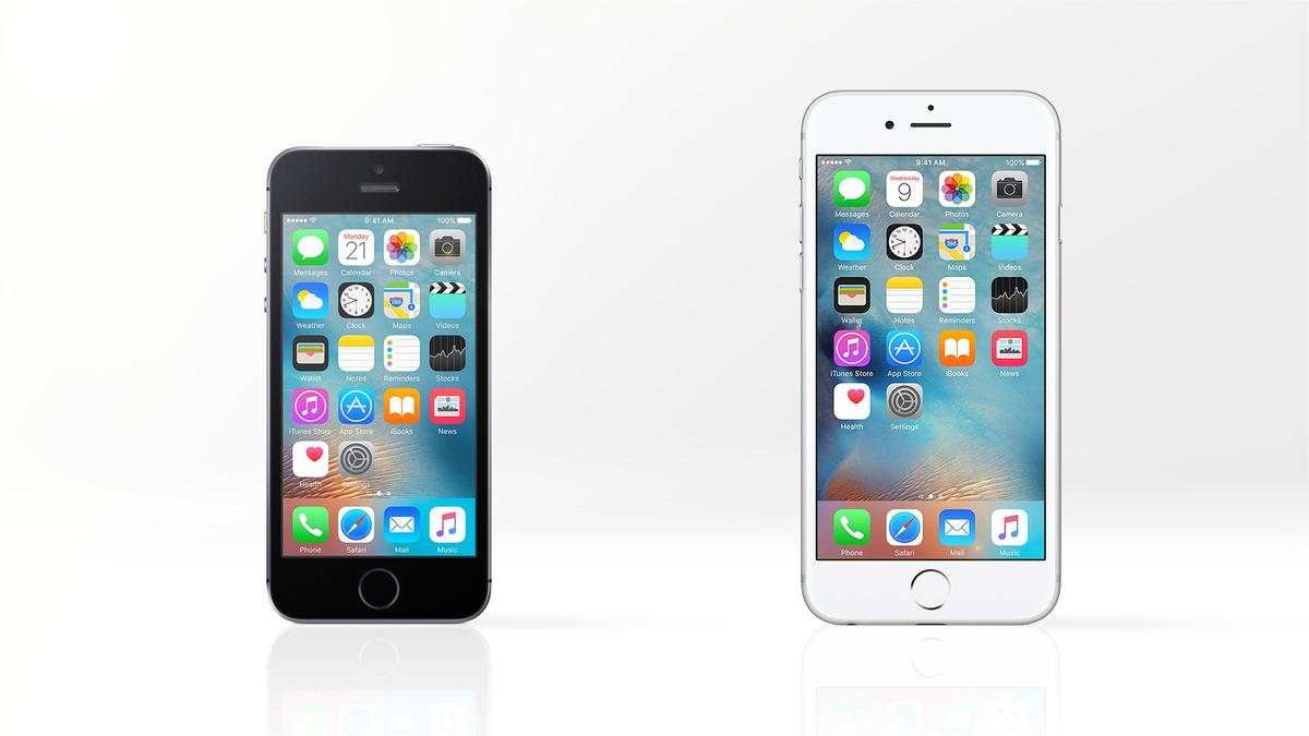 We compare the features and specs of the retro-new iPhone SE (left) and 2015 flagship iPhone 6s