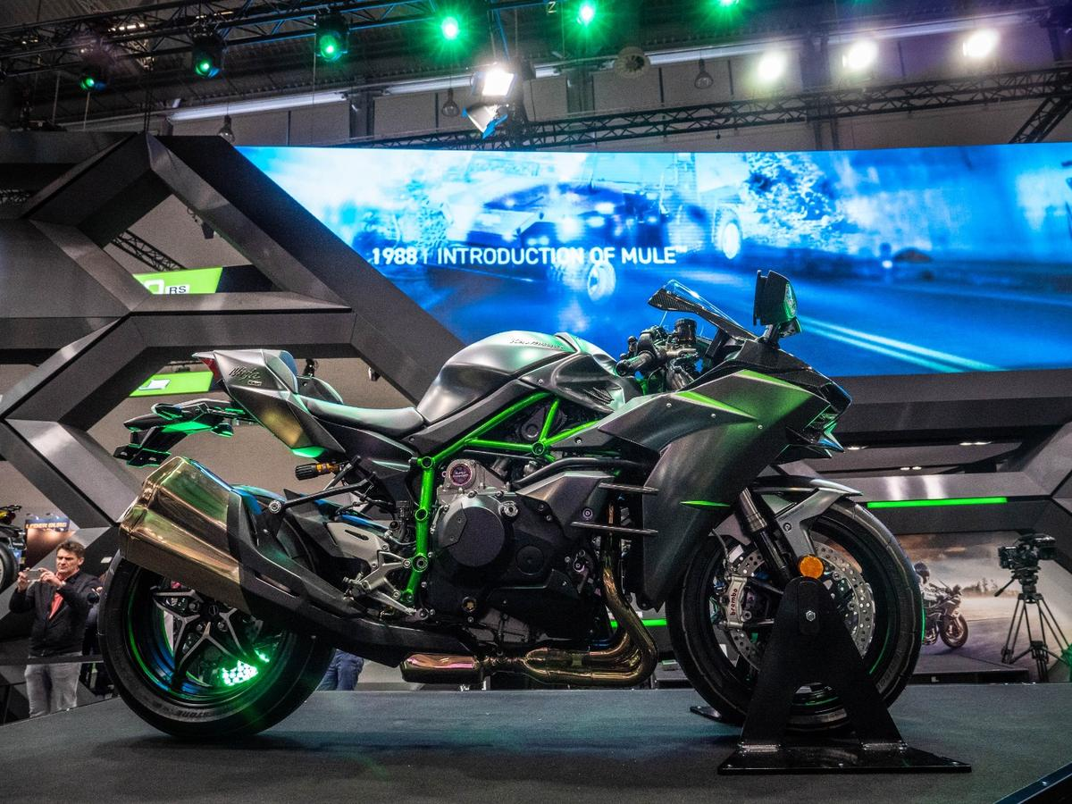 The 2019 Kawasaki Ninja H2 came to Intermot 2018 with 31 extra hp