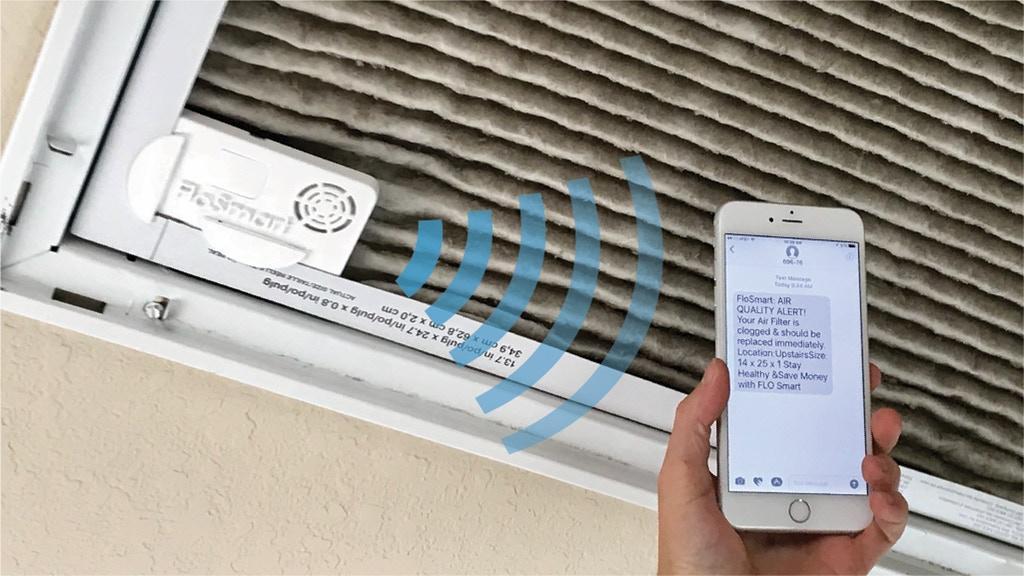 FloSmart notifies users via an iOS/Android app