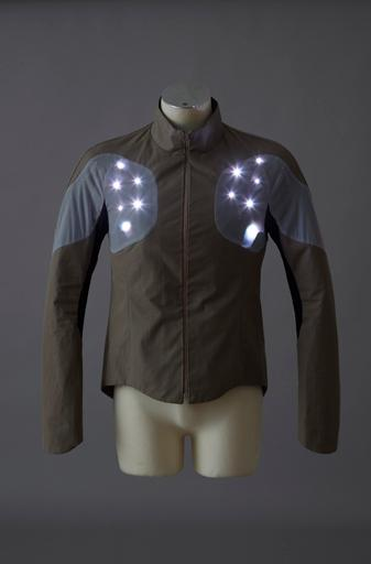 The Sport Supaheroe integrates 64 RGB LEDs into its stretchable, wearable circuit boards