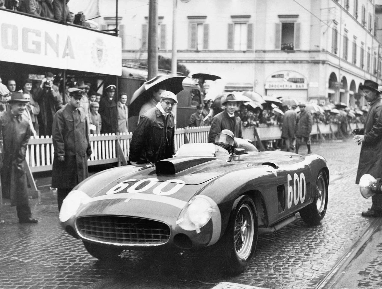 Fangio's Ferrari 290 MM fetched $28 million and became the third most expensive car ever sold, nudging out a 1967 Ferrari 275 GTB/4 S NART Spider which sold for $27,700,000 in August, 2013 during Monterey Car Week. That's Fangio in the car during the 1956 Mille Miglia