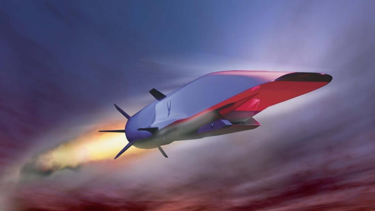 Artist's concept of a hypersonic missile