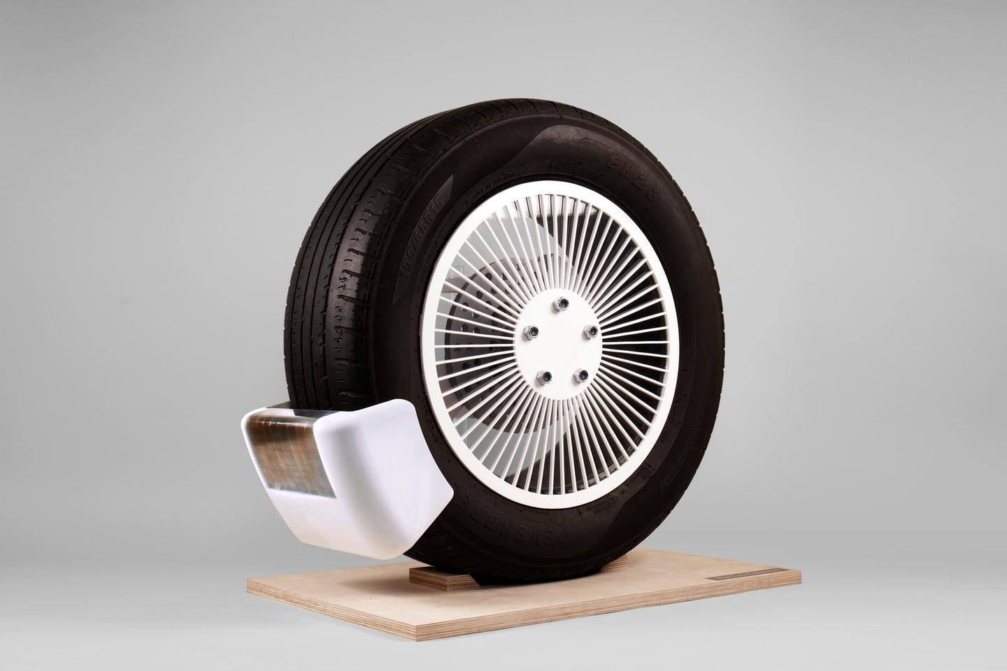 Vehicles could be equipped with one device per wheel