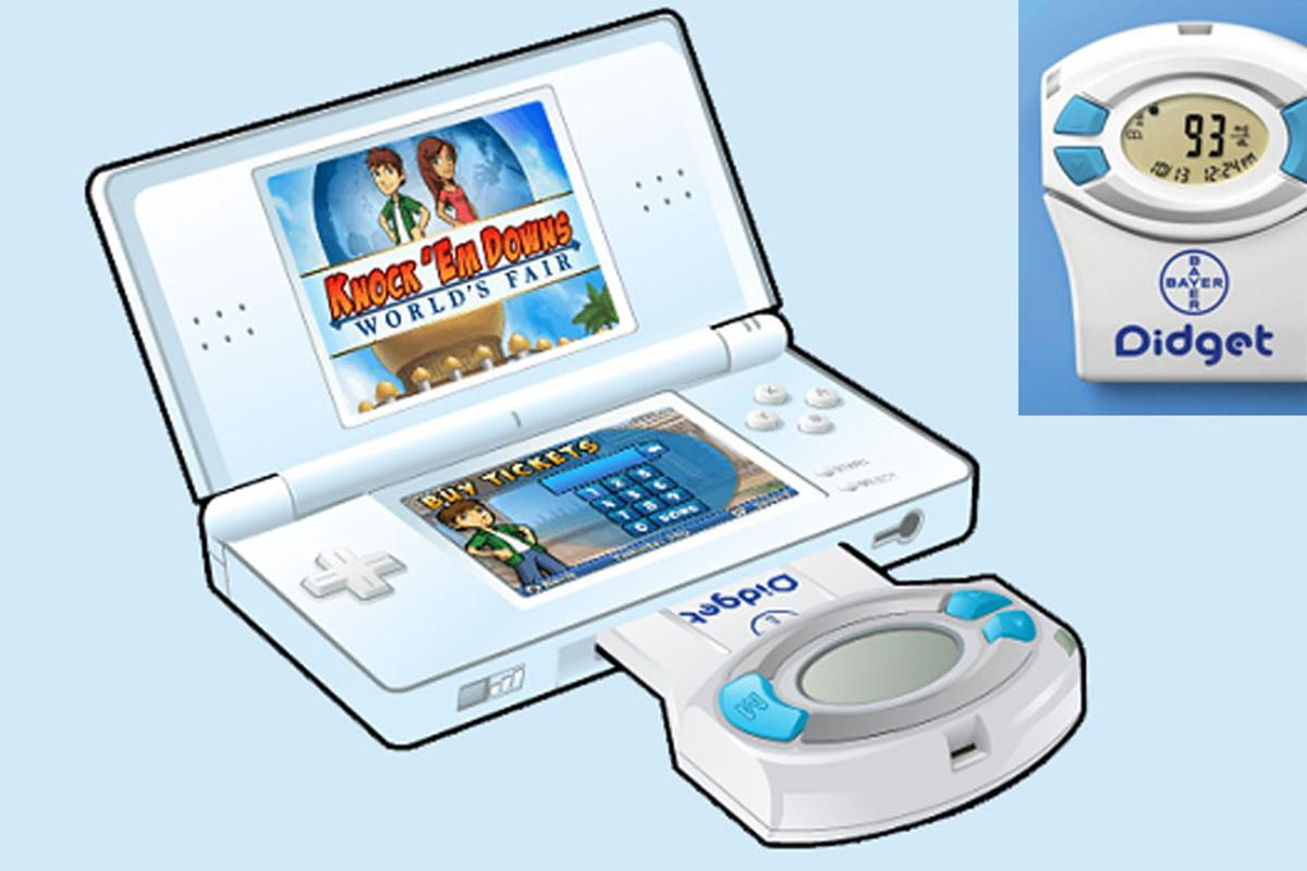 Bayer's Didget blood glucose meter connects to Nintendo DS and DS Lite systems and awards points for regular monitoring