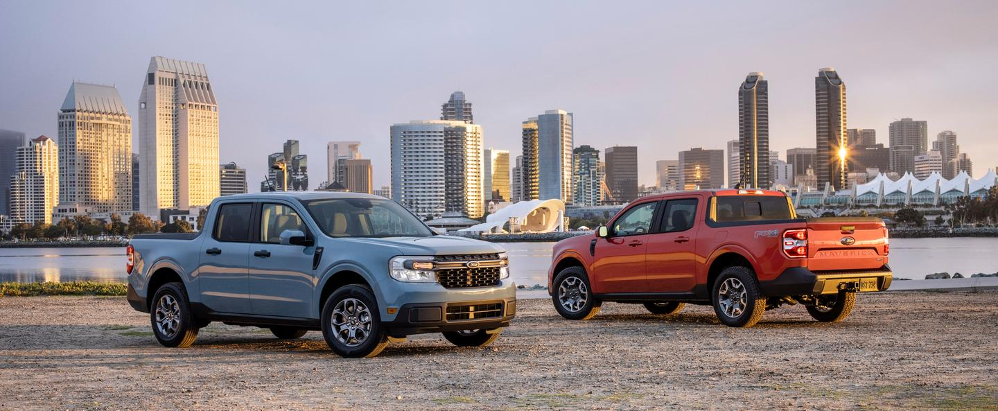 The Maverick will debut with three trim levels: XL, XLT, and Lariat with four-wheel drive (FX4) available on the upper two trims