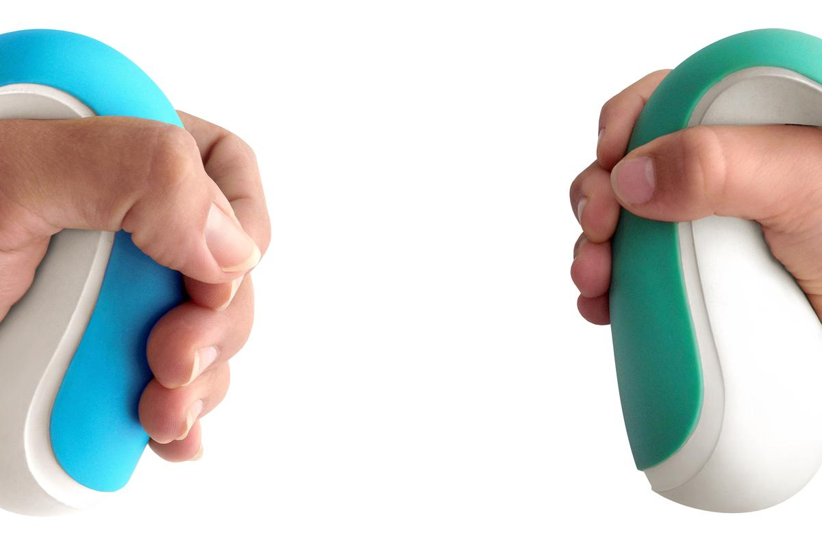 Frebble is designed to allow people to simulate holding hands over the internet