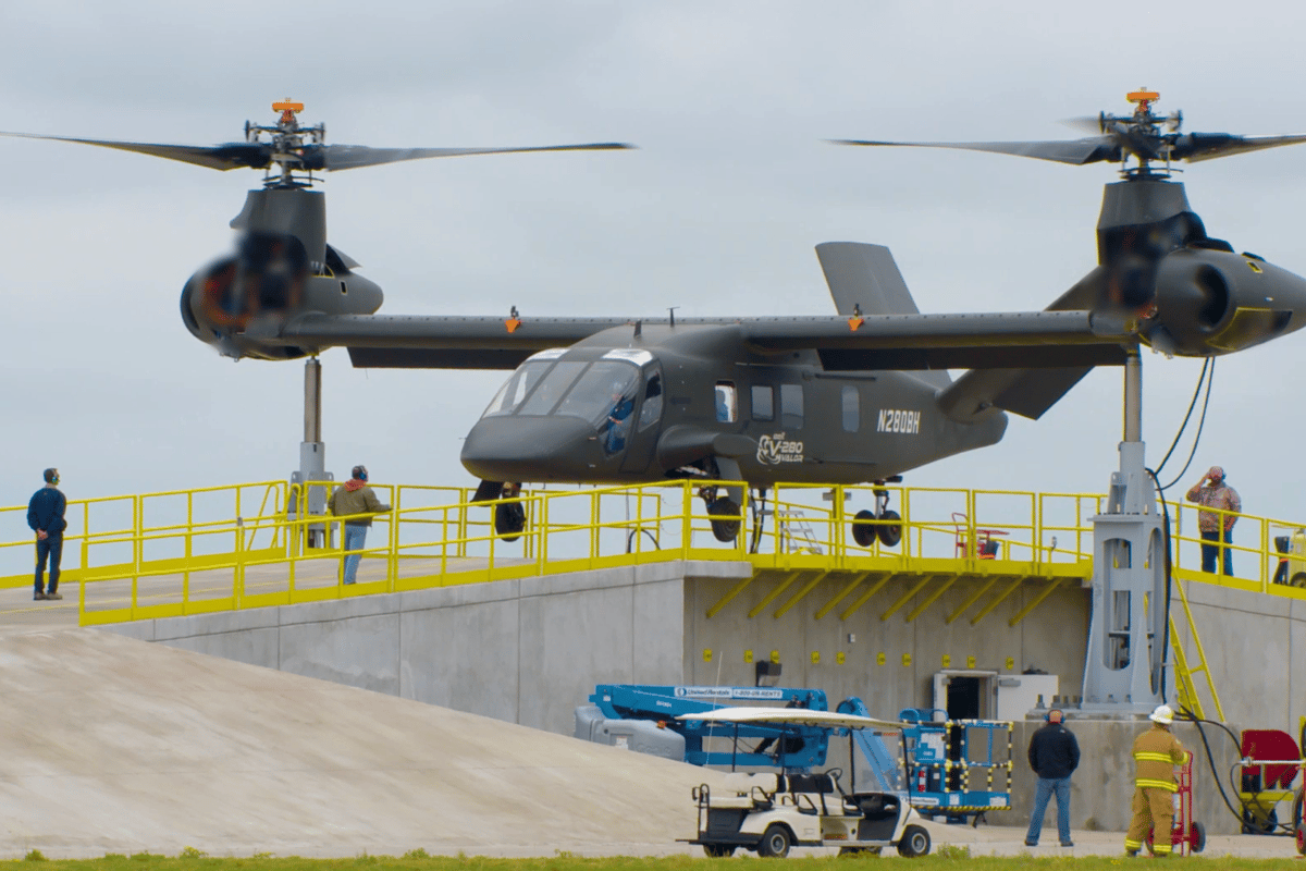 The V-280 Valor reached full RPMs during a tethered ground test