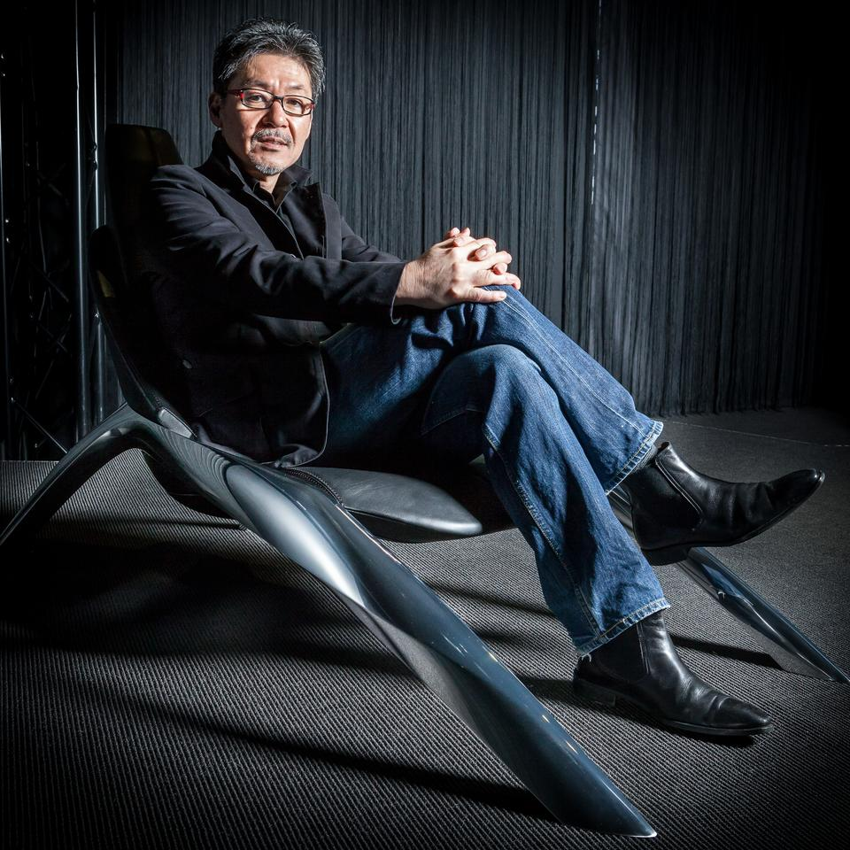 Mazda Global head of design Ikuo Maeda in the KODO chair