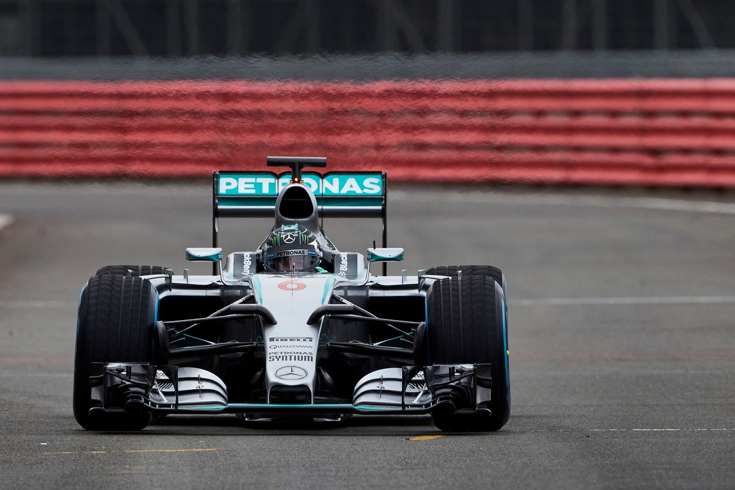 Nico Rosberg shakes down the latest Mercedes F1 challenger