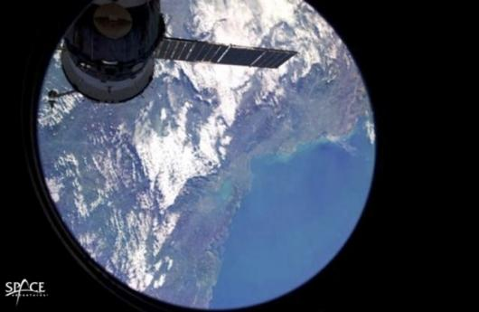 2005 Space Adventure Ltd client Greg Olsen's captured this view from space view from space