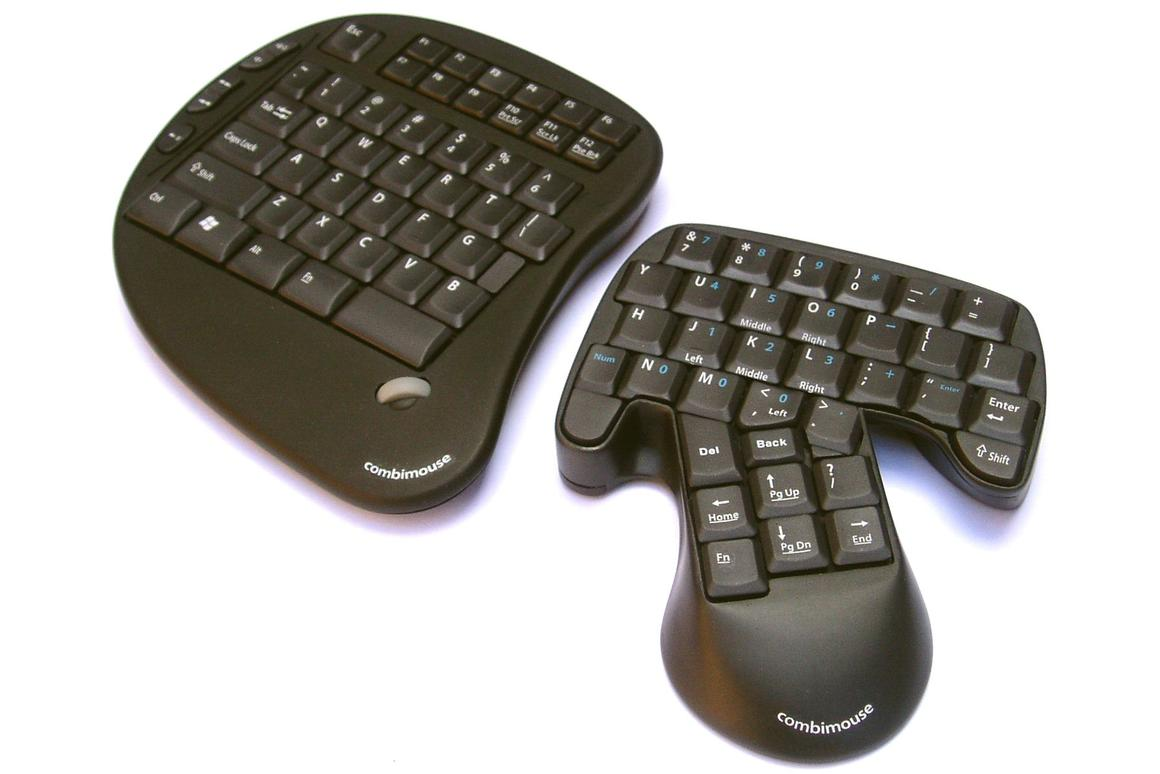 A working prototype of the Combimouse keyboard/mouse system