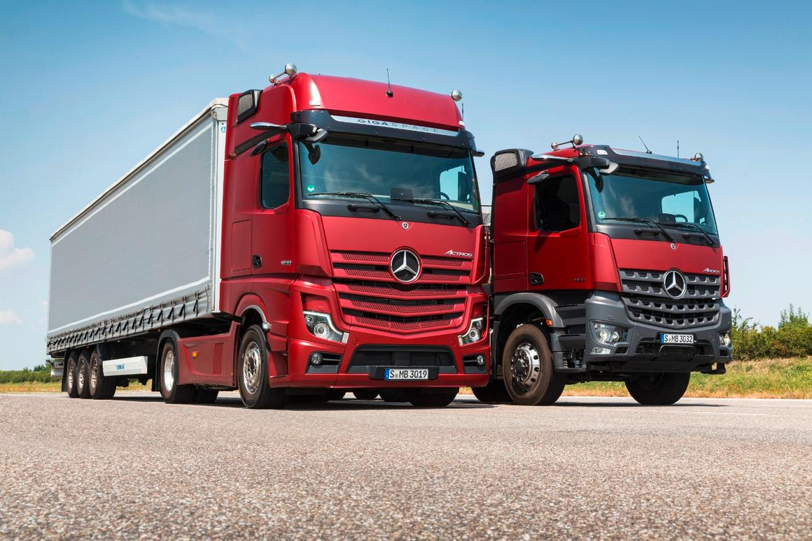 Mercedes Benz Trucks >> Mercedes Benz Trucks Unveils Semi Automated Actros