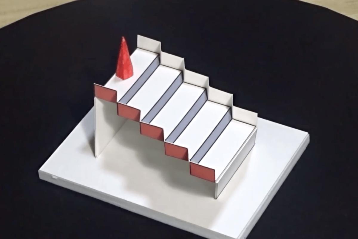 The winning illusion puts a 3D twist on a classic 2D trick