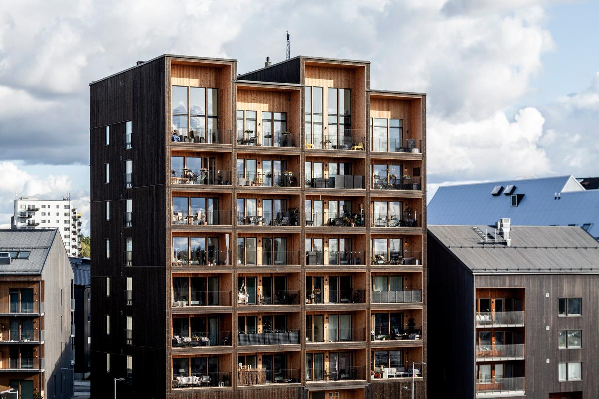 The Kajstaden Tall Timber Building has a total floorspace of 7,500 sq m (roughly 80,000 sq ft)
