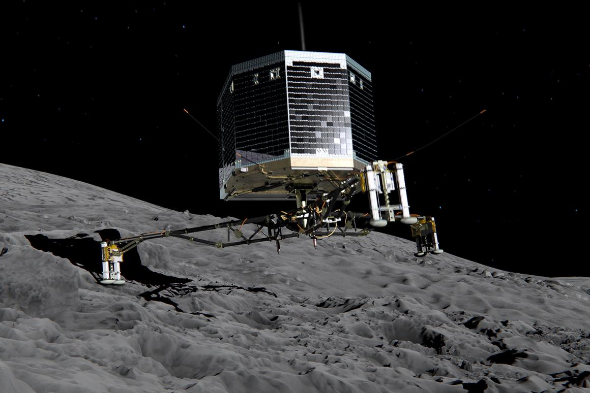 Artist's concept of the Philae lander that is set to touch down on comet 67P/Churyumov-Gerasimenko later this year (Image: ESA)