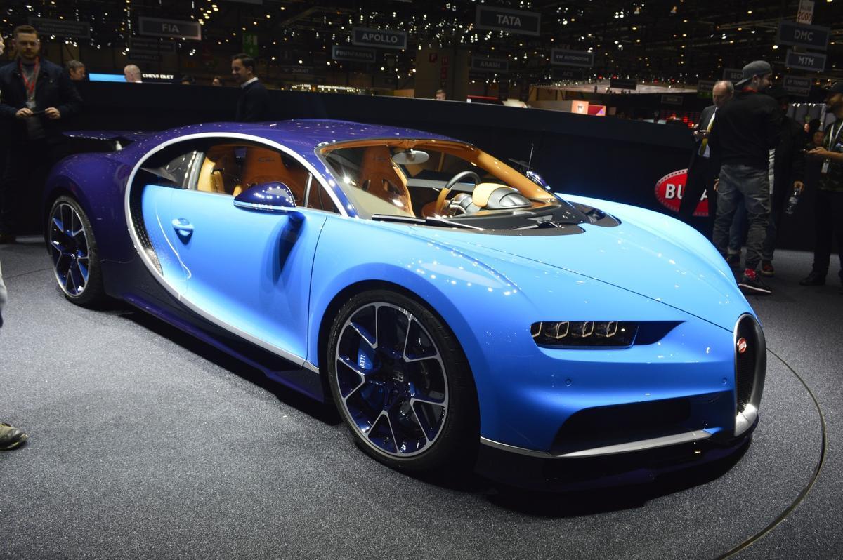 The Bugatti Chiron on display at the Geneva Auto Show