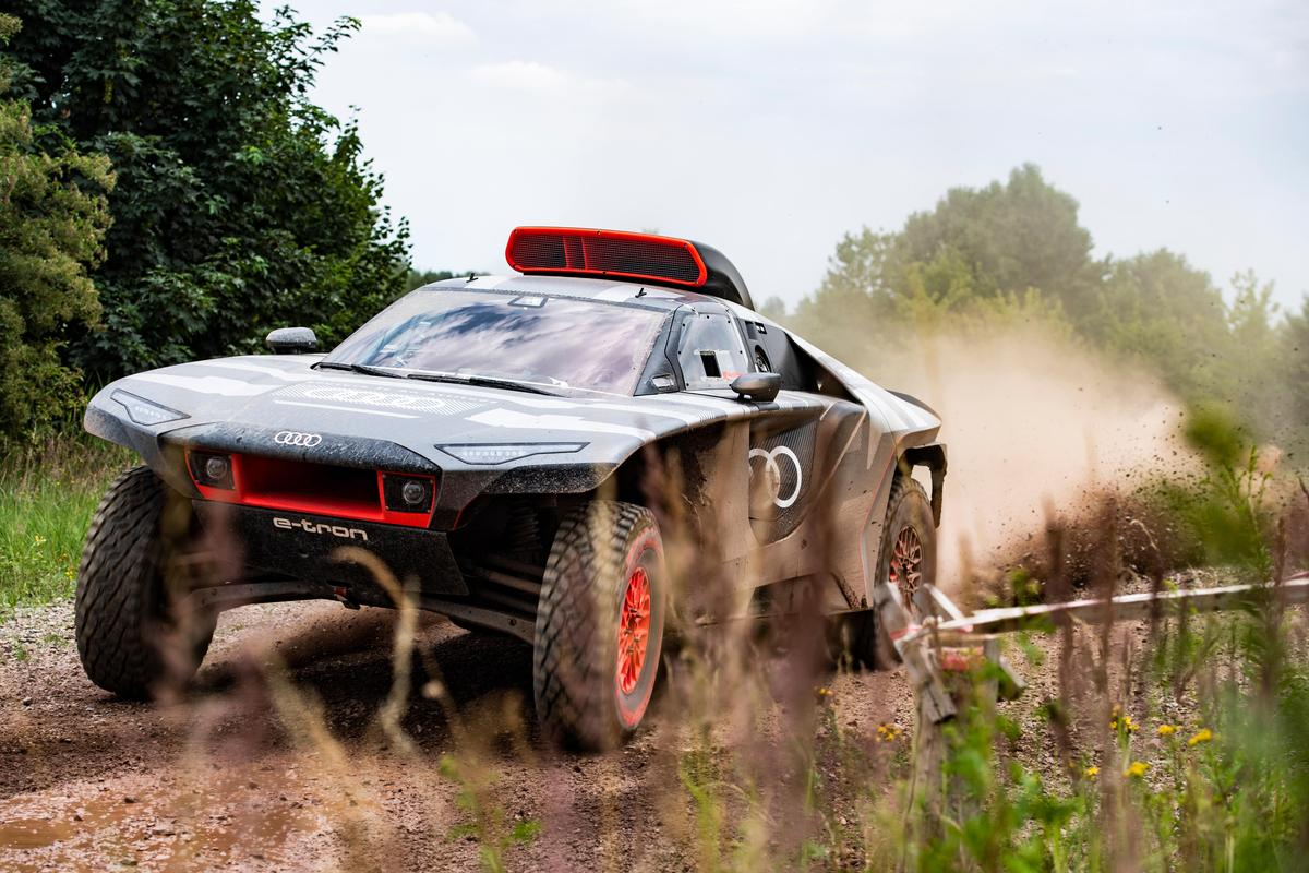 Audi gets ready for the challenge of running an electrified Dakar car