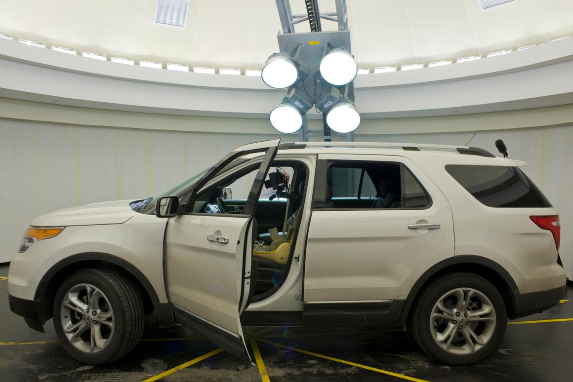 Engineers at the Ford Motor Company use their Visual Performance Evaluation Lab to determine what the insides of their vehicles will look like at any time of day(All photos courtesy Ford Motor Company)