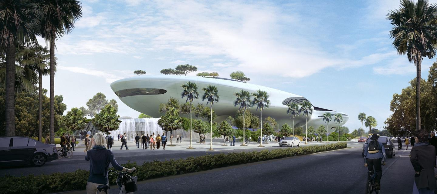 The Lucas Museum of Narrative Art is expected to be completed in late 2021
